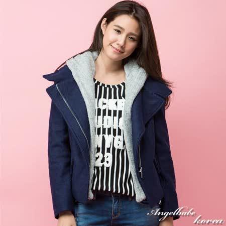 韓國精選女星最愛大衣外套Korea製-2色_深藍