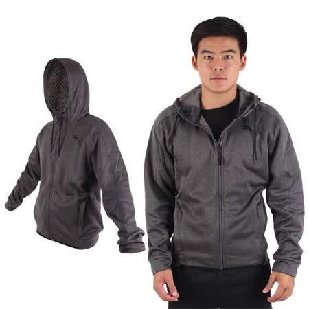 (男) PUMA 訓練系列刷毛連帽外套-保暖 慢跑 路跑 運動 深灰黑