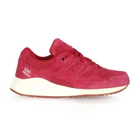 (女) NEWBALANCE 530系列 復古休閒鞋-NB N字鞋 暗紅白
