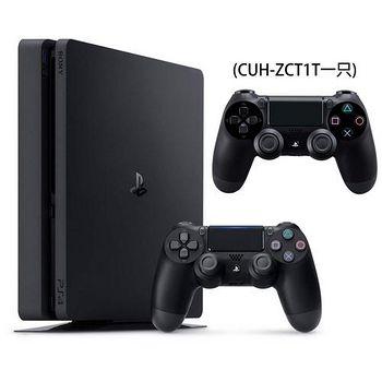 SONY PS4 2017 500G+原廠黑手把(ZCT1T)乙支+DOBE雙手充 極致黑