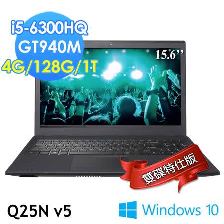 GIGABYTE技嘉 Q25Nv5 15.6吋 i5-6300HQ GT940M WIN10(雙碟特仕版)