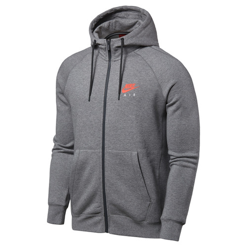NIKE 男 AS M NSW HOODIE FZ FLC AIR HTG 運動外套 灰 809057091