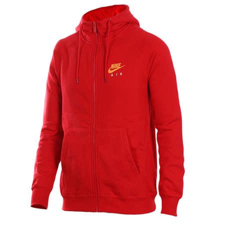 NIKE 男 AS M NSW HOODIE FZ FLC AIR HTG 運動外套 紅 809057657