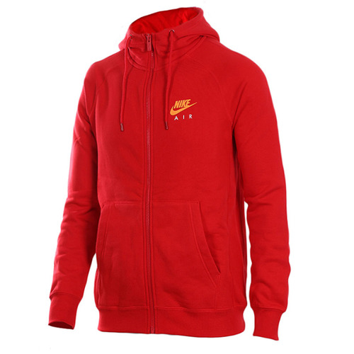 NIKE 男 AS M NSW HOODIE FZ FLC AIR HTG 運動外套 紅 809057657