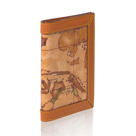 Alviero Martini 義大利地圖包 護照夾-地圖黃