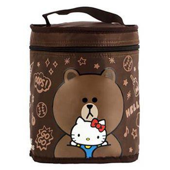 Hello Kitty+LINE 熊大圓形保溫便當袋 0