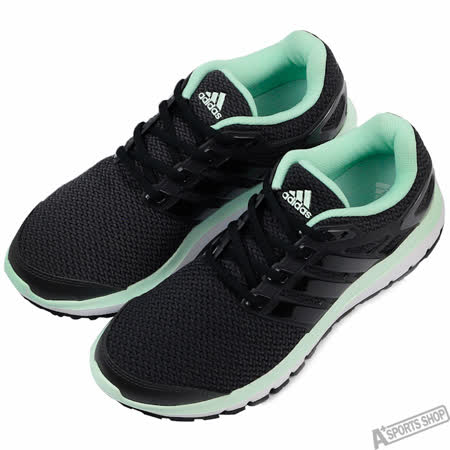 adidas 女 ENERGY CLOUD W 慢跑鞋 愛迪達 黑/綠 -AQ4191