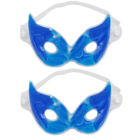 月陽高分子凝膠冷熱敷2用眼罩超值2入(D1312)