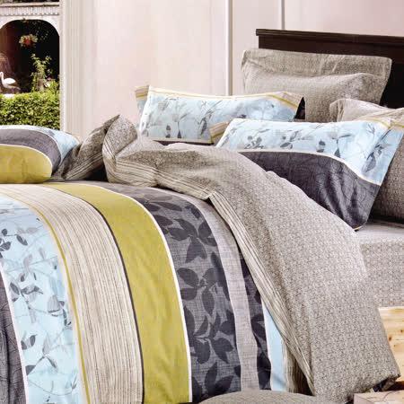 RODERLY-純棉 兩用被床罩組 雙人六件式-新時代