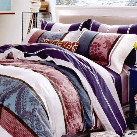 RODERLY-純棉 兩用被床罩組 雙人六件式-風度