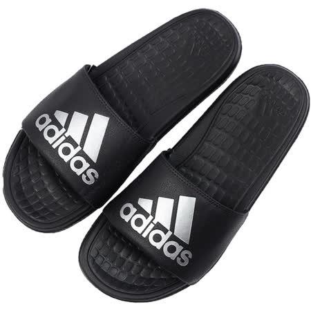 ADIDAS 男 VOLOOMIX 拖鞋 黑白 AQ5897
