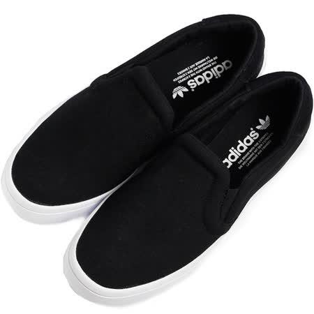 ADIDAS 女 COURTVANTAGE SLIP ON W 休閒鞋 黑白 S75171