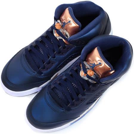 NIKE 大童 AIR JORDAN 5 RETRO BG 籃球鞋 藍 440888416