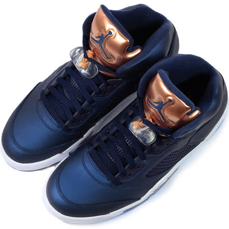 NIKE 男 AIR JORDAN 5 RETRO 限量 籃球鞋 藍-136027416