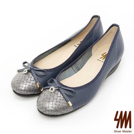 【開箱心得分享】gohappy【SM】台灣製真皮系列-心形墜飾蝴蝶結楔型娃娃鞋-藍色心得新光 三越 百貨
