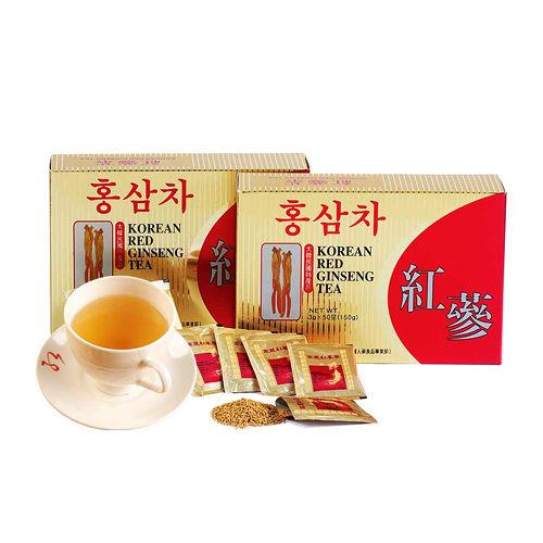 金蔘-6年根韓國高麗紅蔘茶(100包/盒,共2盒)加贈蔘芝王2瓶