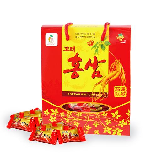 金蔘-韓國高麗紅蔘糖(300g/盒,共6盒)加贈蔘芝王2瓶