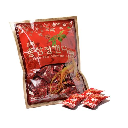 金蔘-韓國高麗紅蔘糖(300g/包,共6包)加贈蔘芝王2瓶