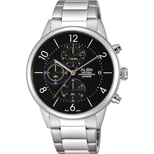 ALBA Prestige 街頭酷 計時腕錶~黑40mm VD57~X079D^(AM33