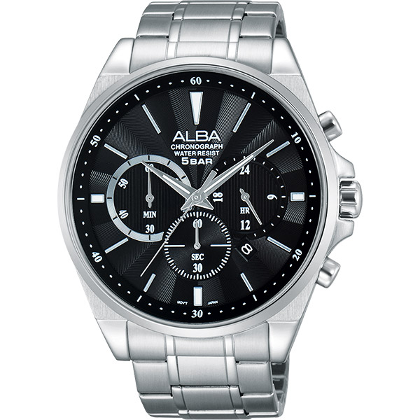 ALBA Prestige 街頭酷 計時腕錶~黑44mm VD53~X255D^(AT3A