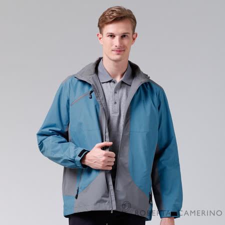 ROBERTA諾貝達 嚴選穿搭 禦寒必備 內刷毛夾克外套 淺藍