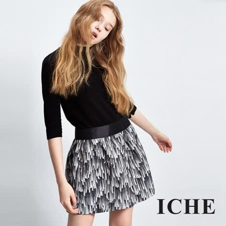 ICHE衣哲 特色提花造型短裙