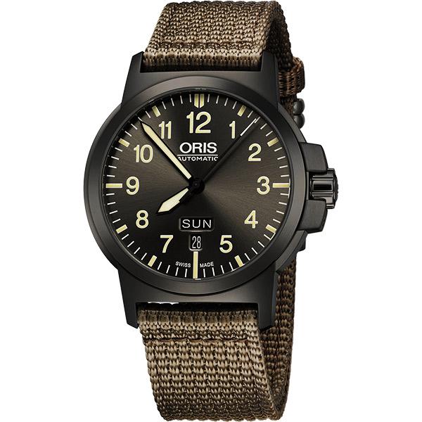 Oris BC3 Advanced 日曆星期機械腕錶~鐵灰x墨綠42mm 73576414