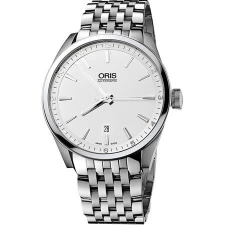 Oris ARTIX DATE 新大錶冠機械腕錶-銀/42mm 0173376424051-0782180