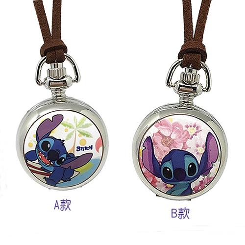 【迪士尼】卡哇伊Stitch史迪奇小懷錶(2款任選)