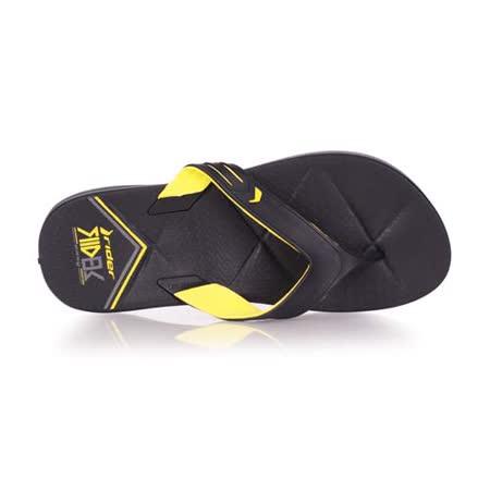 (男) Rider 運動拖鞋-人字拖 夾腳拖 海邊 海灘 沙灘 游泳 黑黃