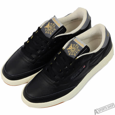Reebok 男 CLUB C 85 RETRO GUM 休閒鞋 黑 -AQ9846