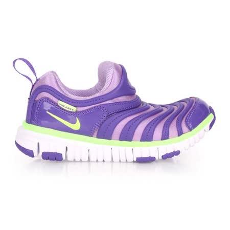 (童) NIKE 男女兒毛毛蟲鞋 DYNAMO FREE-PS-大 鞋 紫螢光綠