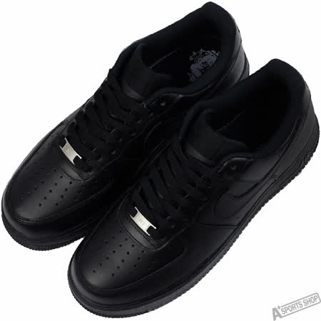 NIKE 男 AIR FORCE 1 07 LE 休閒鞋 黑 -315122001
