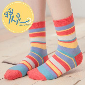蒂巴蕾 Deparee 暖足 羊毛襪-千層派 粉紅/青綠/摩卡