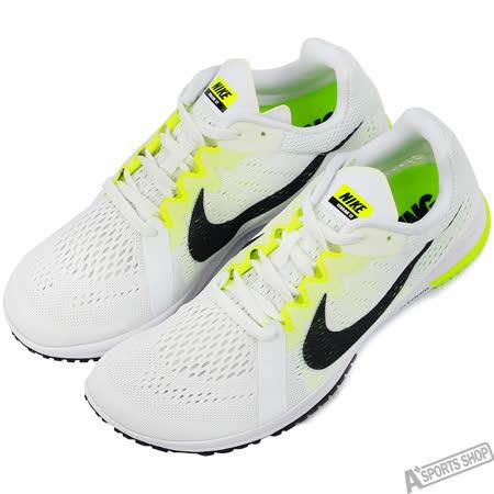 NIKE 男 NIKE ZOOM STREAK LT 3 慢跑鞋 白/螢光綠 -819038107