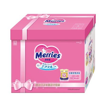 妙而舒 金緻柔點透氣紙尿褲成長餽贈禮 (M42片x3包 ) 買就送妙妙兔粉紅萬用毯