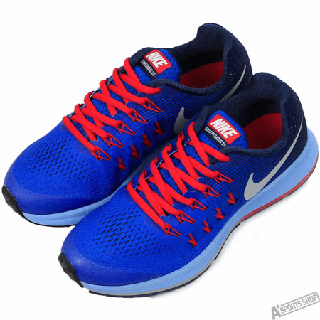 NIKE 女 NIKE ZOOM PEGASUS 33 (GS) 慢跑鞋 藍 -834316402