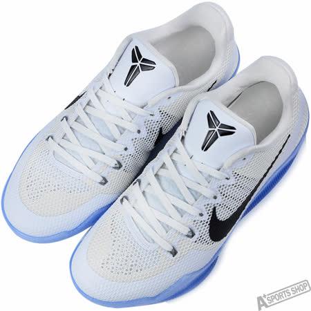 NIKE 男 KOBE XI EP 籃球鞋 白/藍 -836184100