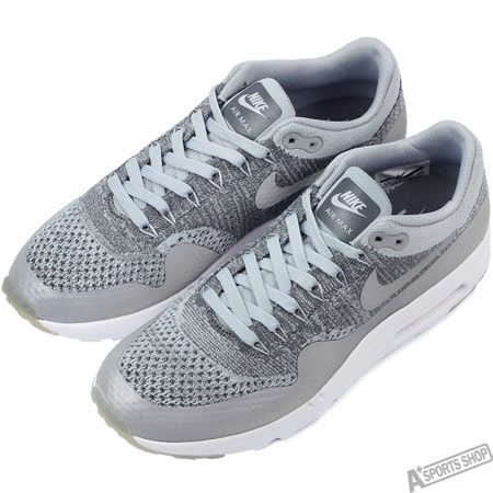NIKE 男 NIKE AIR MAX 1 ULTRA FLYKNIT 休閒鞋 灰 -843384001