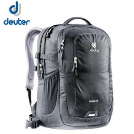 【德國 Deuter】新款 Gigant 32L 專業電腦後背包(附可拆腰帶+筆電隔間) 80424 黑