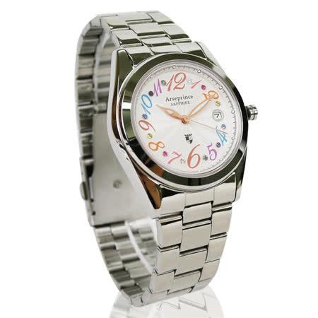 【Arseprince】璀璨晶彩時尚中性錶-銀色