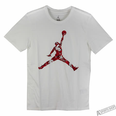 NIKE 男 AS AIR JUMPMAN HANDS DOWN TEE 短T 白/紅 -801606100