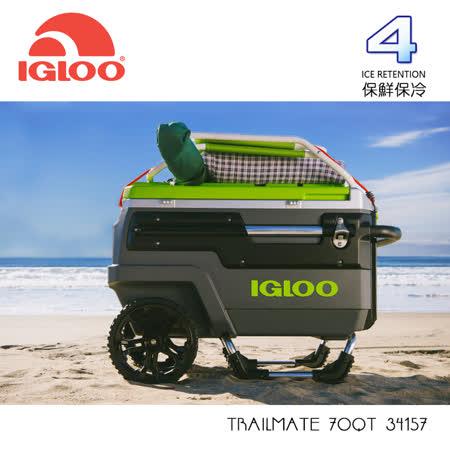 IGLOO TRAILMATE 70QT拉桿冰桶34157  | 碳黑/檸檬黃/ 城市綠洲 (保鮮、保冷、美國製造、露營、釣魚)