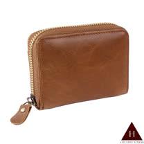 【H-CT】單層簡約棕色卡片零錢包(P-KC251有框-Z)