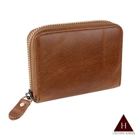 【H-CT】單層簡約棕色卡片零錢包(P-KC251無框-Z)