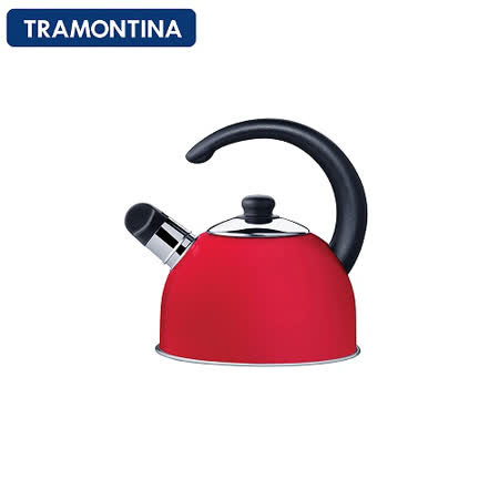 TRAMONTINA 不鏽鋼2.1公升笛音壺(紅)