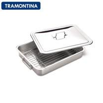 TRAMONTINA 廚房多功能不鏽鋼烤盤(含蓋子)