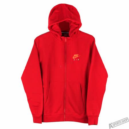 NIKE 男 AS M NSW HOODIE FZ FLC AIR HTG 外套 紅 -809057657