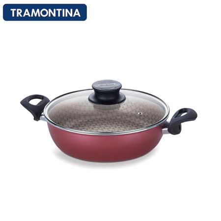 【勸敗】gohappy快樂購TRAMONTINA Paris系列26公分專業深湯鍋含鍋蓋(紅色)有效嗎桃園 愛 買