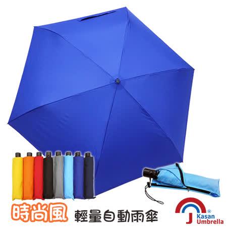 [Kasan] 時尚風輕量自動雨傘-寶藍